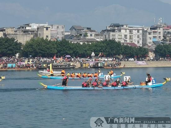 广西融安国际龙舟邀请赛火热开启