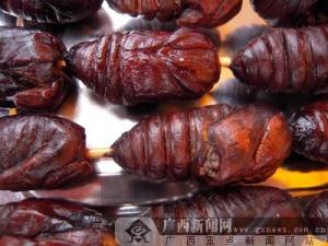 极富营养的美食:蝉蛹