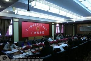 """广西代表团召开会议审议""""两高""""工作报告"""
