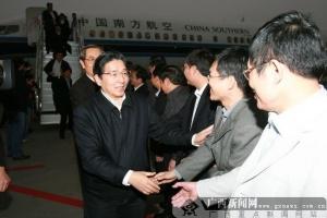 出席十一届全国人大三次会议广西代表返邕