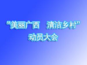 """全区""""美丽广西・清洁乡村""""活动 动员大会"""