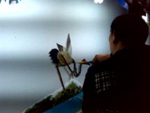 皮影戏《鹤与龟》
