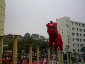 校园狮王――广西梧州商贸学校醒狮队