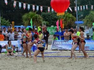 2014年全国沙滩手球锦标赛侨港海滩举行