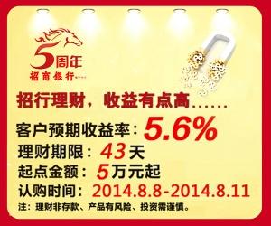 招行理财 收益有点高 年化收益5.6%