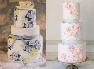经典复古花艺婚礼蛋糕