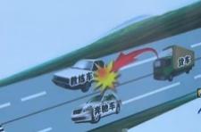 刹车失灵货车改撞教练车
