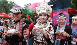 广西文物苑举办油茶节 游人赞叹八桂油茶分外香