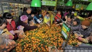 """大化保障居民""""菜篮子"""" 农副产品平价惠民受欢迎"""