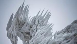 童话般的结冰景象