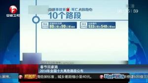 2014年全国十大高危路段公布