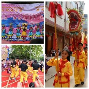 """钦州举行壮族""""三月三""""文化巡游演出"""