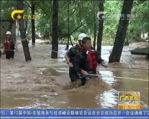 桂林多地遭受强风暴雨侵袭 漓江排筏暂时封航