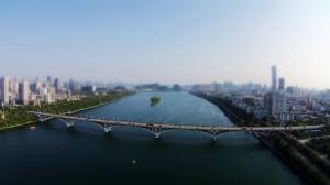 航拍柳州的桥
