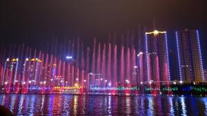 来宾桂中水城夜景