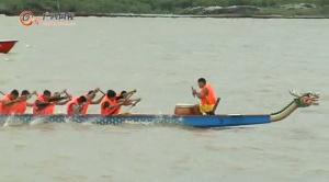 蛟龙竞逐茅尾海 2015钦州海上龙舟赛激情挥桨