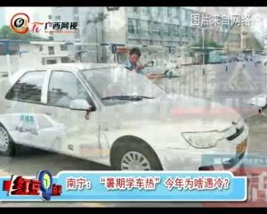 """南宁:""""暑期学车热""""今年为啥遇冷?"""