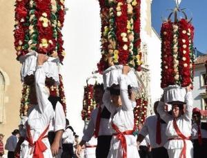 高清:葡萄牙托马尔花篮节落幕