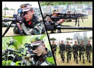 高清:直击武警狙击手集训
