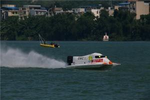 F1摩托艇世界锦标赛中国柳州站开赛 中国队完美夺冠