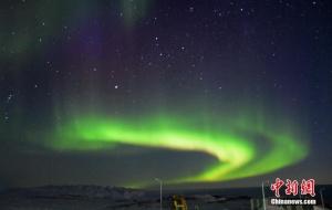 南极中山站再现神奇壮丽的极光