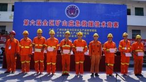 第六届全区矿山救援技术竞赛在百色举行