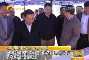 """唐仁健考察南宁市""""美丽南方""""休闲农业示范区"""