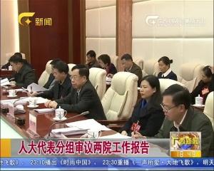 人大代表分组审议两院工作报告