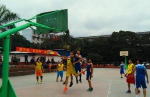 """大化举行第五届""""民生杯""""迎春男篮比赛"""