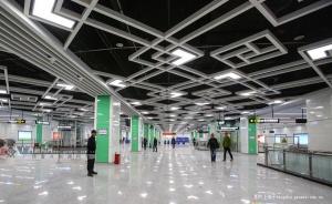 南宁1号线埌东客运站地铁站真容曝光