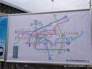 南宁市规划的地铁线路图