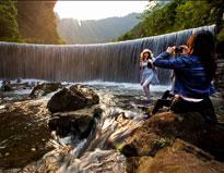 美丽的蒙山县天书峡谷