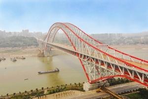 """""""世界第一拱""""重庆朝天门长江大桥主拱上构安装工程"""