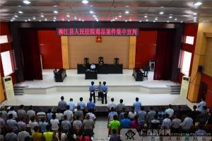 柳江法院集中宣判4起毒品案震慑毒品犯罪