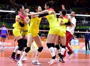 高清:夺冠一刻:中国女排队夺冠