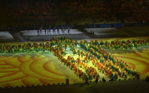 组图:里约奥运会闭幕式举行
