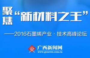 直播回顾:2016石墨烯产业·技术高峰论坛在邕举办