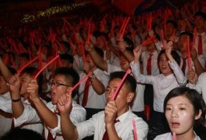 朝鲜庆祝青年同盟九大召开(图)