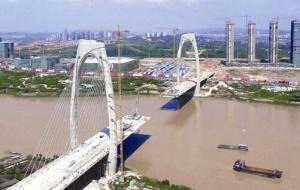 南宁市青山大桥即将合龙