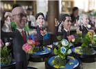 捏塑作品G20杭州峰会参会领导人形象亮相