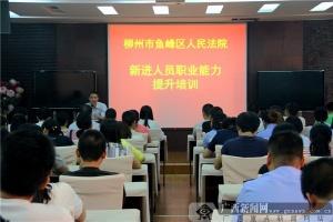 鱼峰区法院举行新进人员职业能力提升培训会议