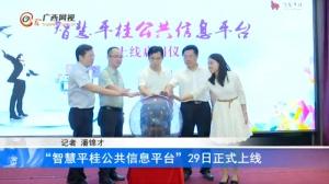 """""""智慧平桂公共信息平台""""29日正式上线"""