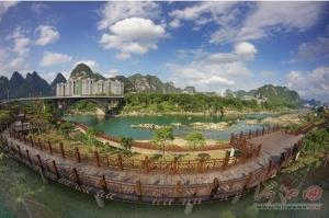 宜州江滨公园美如画