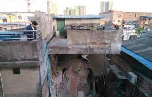 柳州一楼房发生坍塌
