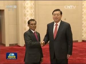 张德江与马尔代夫议长举行会谈