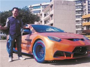 12月8日焦点图:汽修师8万元手工打造出酷炫跑车