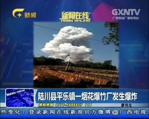 陆川县平乐镇一烟花爆竹厂发生爆炸
