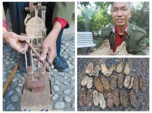 退休老人编草鞋售卖 他卖的不是草鞋是情怀(图)