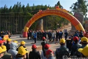 高清:钦南区在那雾山举办迎新登山健步走活动