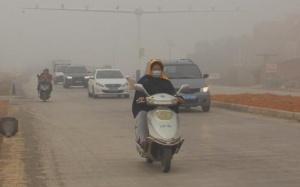 象州大雾锁城 最小能见度仅有37米
